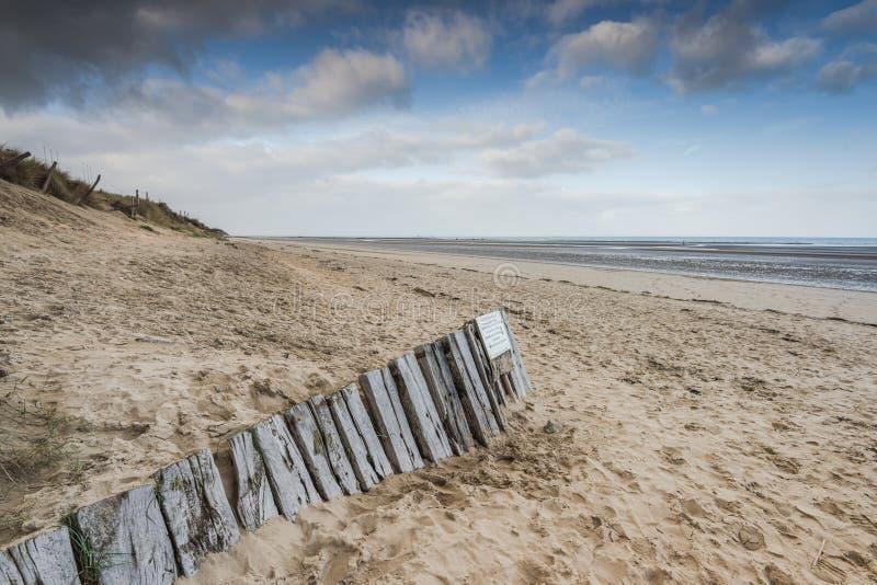 Utah-Stranddünen in der historischen Stätte des Normandie-Wold-Krieges zwei stockbild
