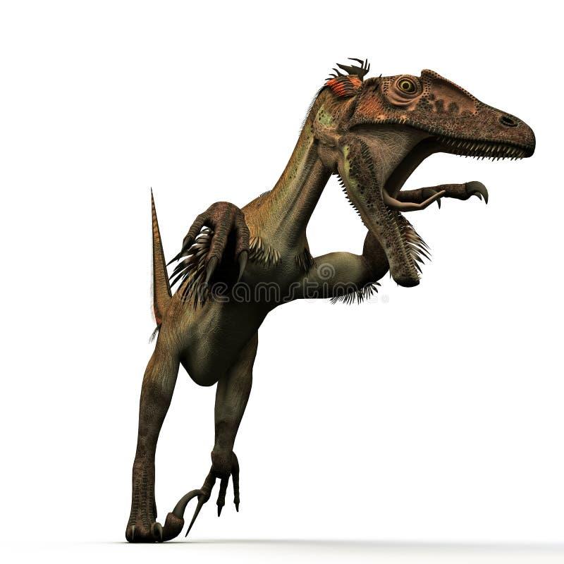 Utahraptor royalty-vrije illustratie