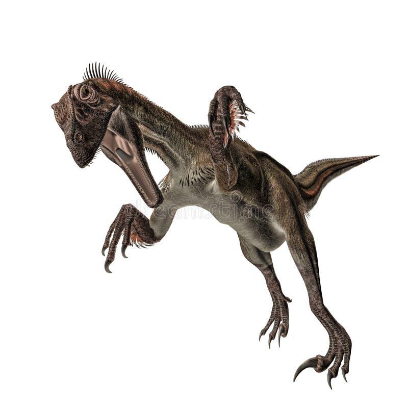 Utahraptor illustration stock