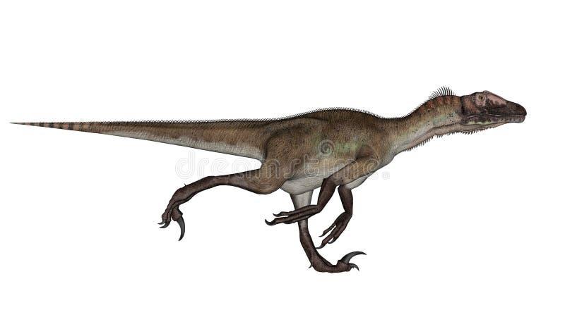 Utahraptor dinosaura bieg - 3D odpłacają się ilustracja wektor