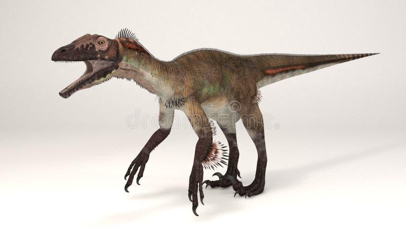 Utahraptor veer-dinosaurus stock illustratie