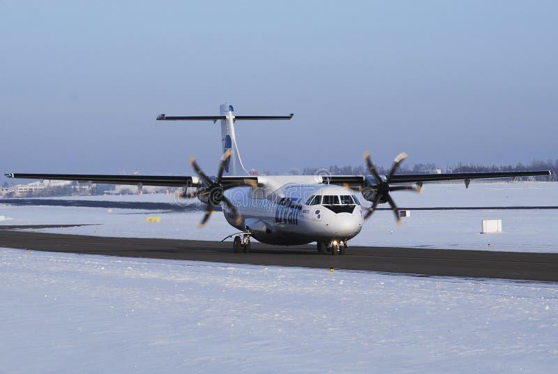UTair Airplane ATR 72 Editorial Stock Image