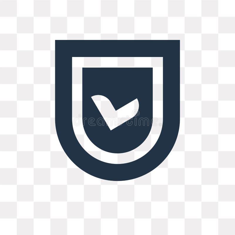Utajniona wektorowa ikona odizolowywająca na przejrzystym tle, Encryp royalty ilustracja