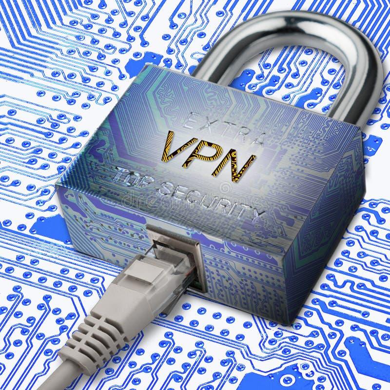 Utajniony komunikacyjny używa VPN royalty ilustracja