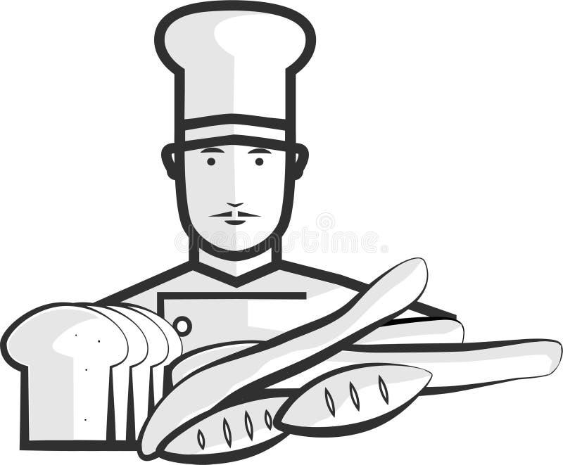 Utalentowany i oddany fachowy szef kuchni ilustracja wektor