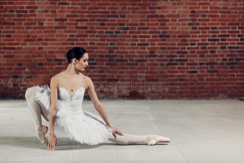 Utalentowany tancerza szkolenie na podłodze zdjęcia stock