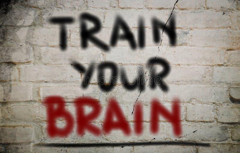 Utbilda din Brain Concept royaltyfri foto