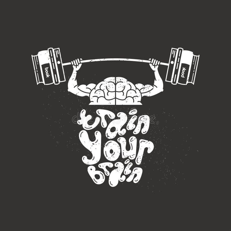 Utbilda din hjärna stock illustrationer