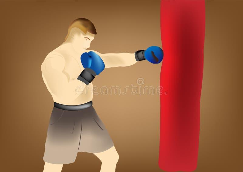 Utbildning av boxare stock illustrationer