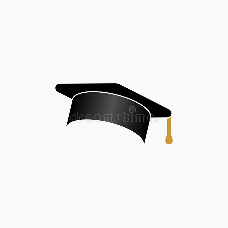 Utbildning avläggande av examenlock/illustration för vektor för hattsymbol enkel vektor illustrationer