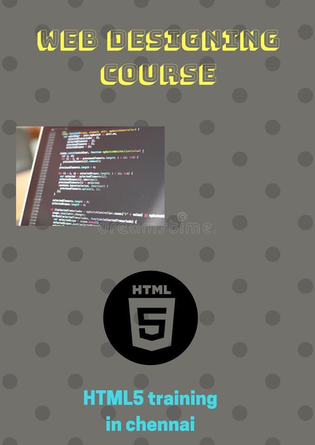 Utbildning HTML5 i Chennai royaltyfri illustrationer