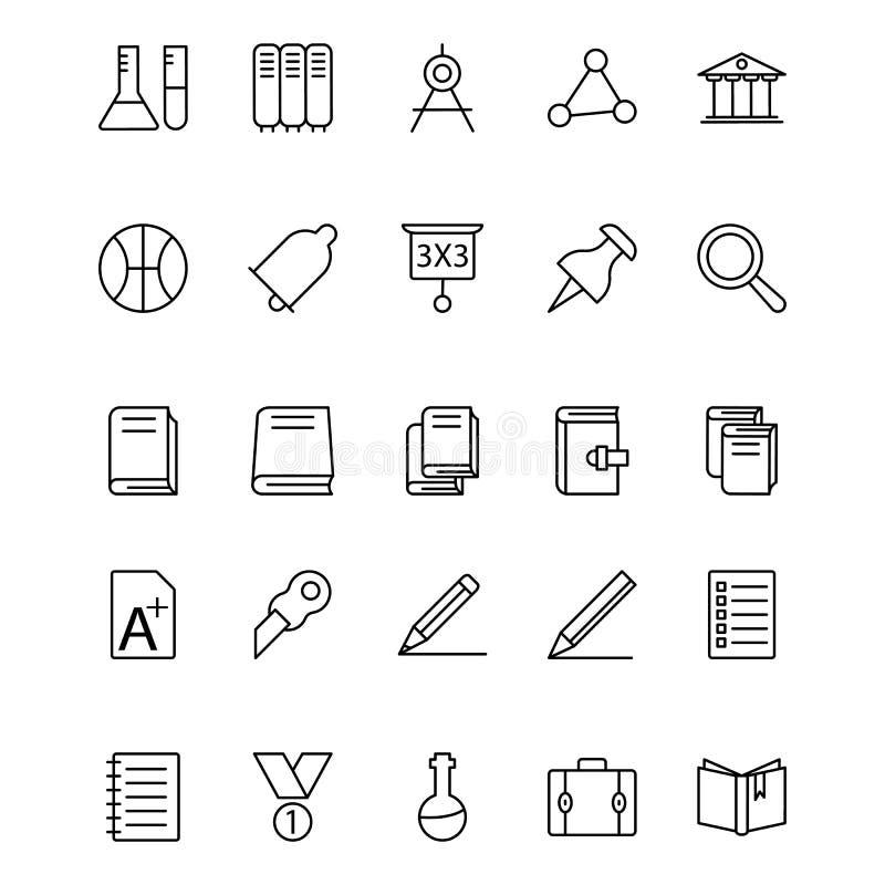 Utbildning isolerad vektorsymbol som kan vara lätt att redigera eller ändrade royaltyfri illustrationer