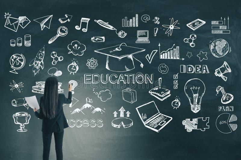 Utbildning och finansbegrepp arkivbild