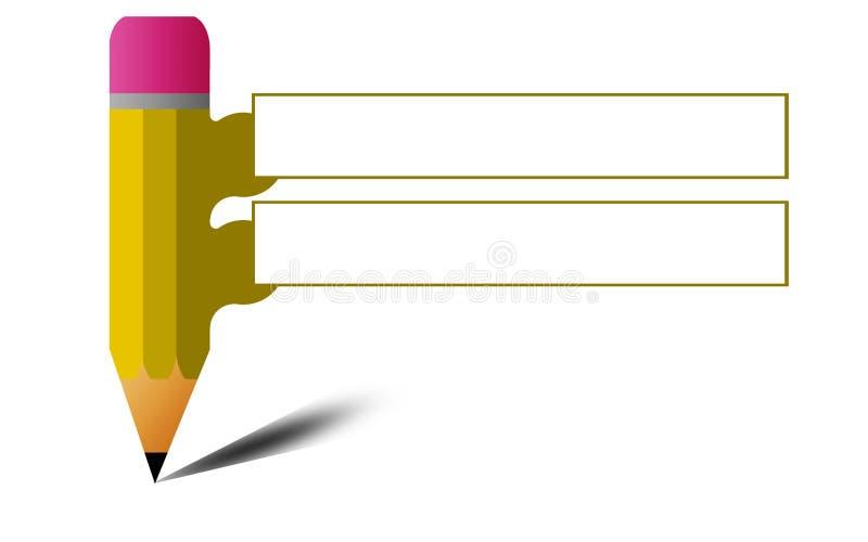 Utbildning och lära som är infographic med en blyertspenna royaltyfri illustrationer