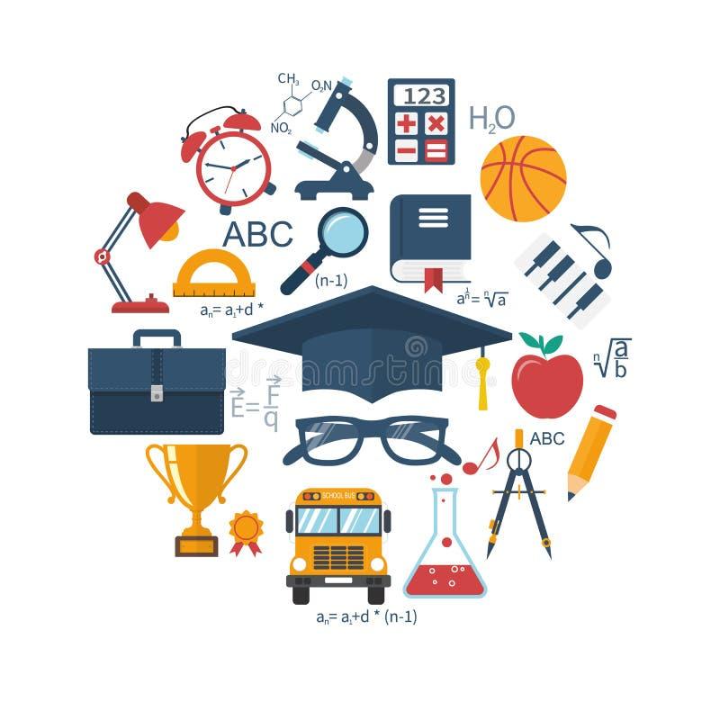 Utbildning och lärabegrepp royaltyfri illustrationer