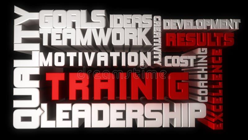 Utbildning och ledarskap stock illustrationer