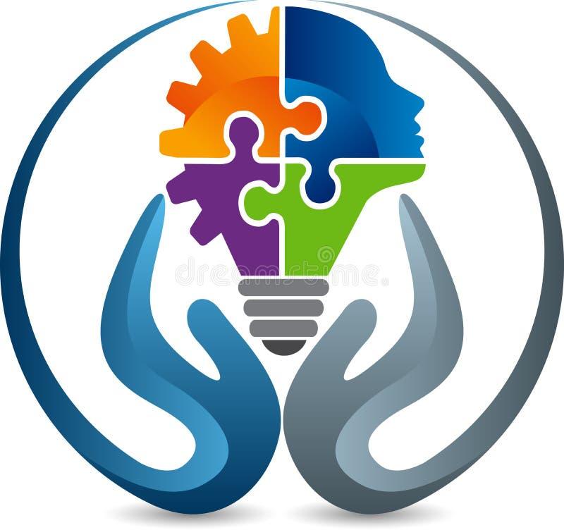 Utbildning som lär logo stock illustrationer