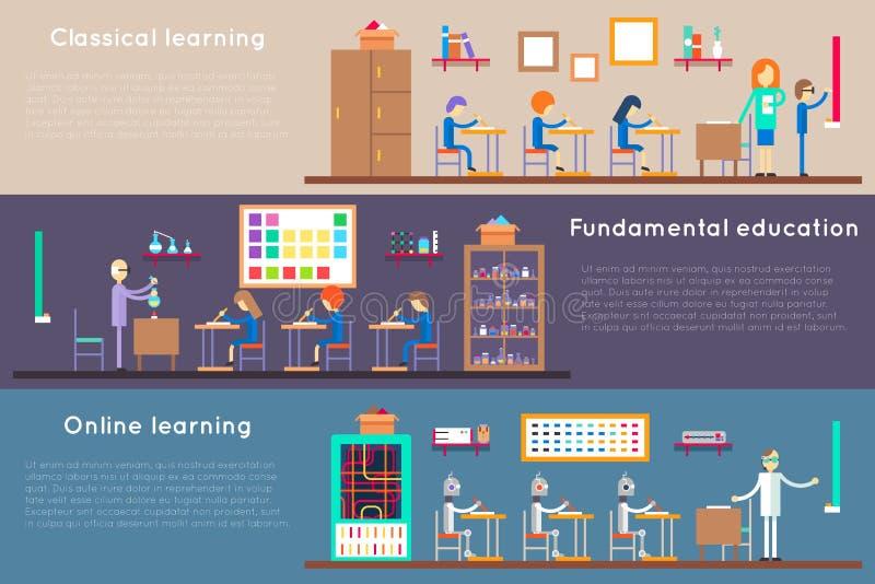Utbildningsbaner stock illustrationer