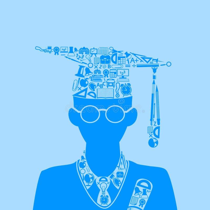 Utbildningsbegrepp stock illustrationer
