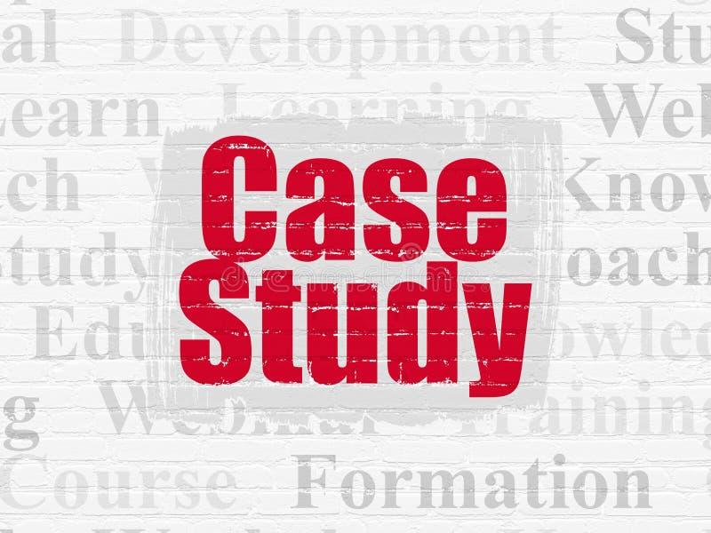 Utbildningsbegrepp: Fallstudie på väggbakgrund vektor illustrationer