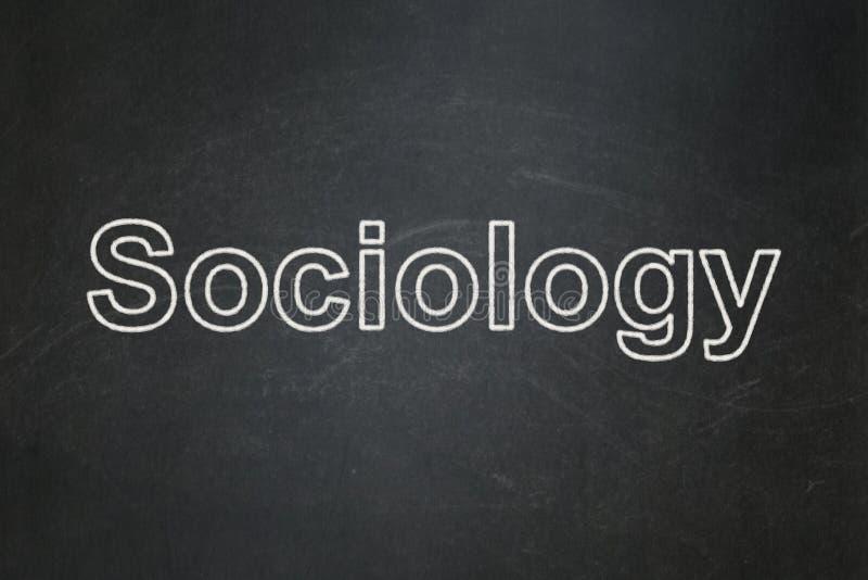 Utbildningsbegrepp: Sociologi på svart tavlabakgrund royaltyfri foto