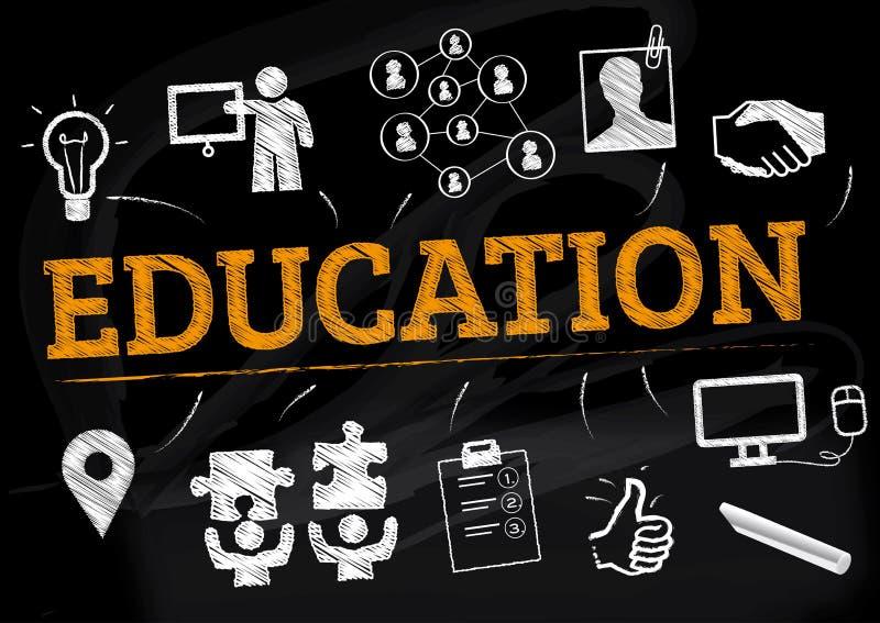 Utbildningsbegreppsillustration royaltyfri illustrationer