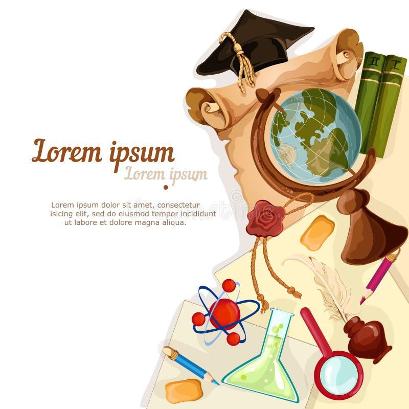 Utbildningsbeståndsdelbakgrund royaltyfri illustrationer