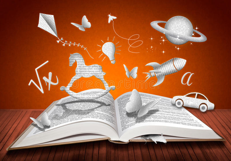 Utbildningsbok arkivfoton