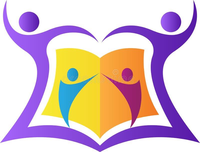 Utbildningsemblem royaltyfri illustrationer