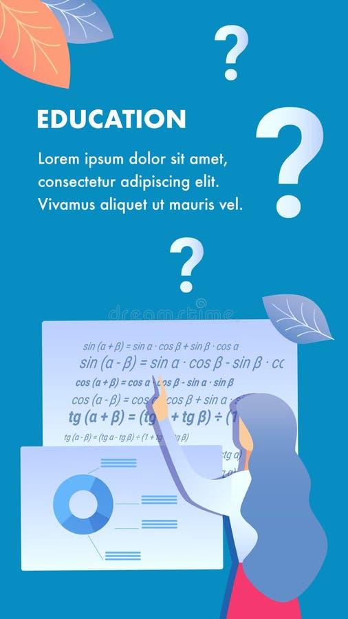 Utbildningsinstitutionreklamblad, broschyrmall vektor illustrationer