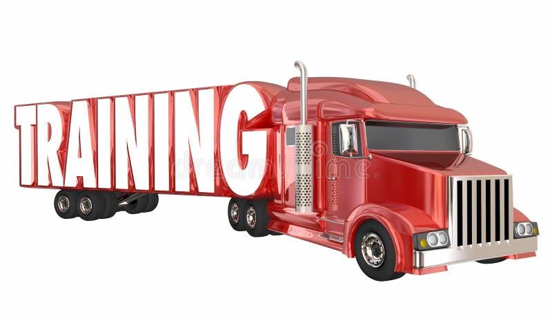 UtbildningslastbilsförareSchool Trucking License attestering 3d I royaltyfri illustrationer