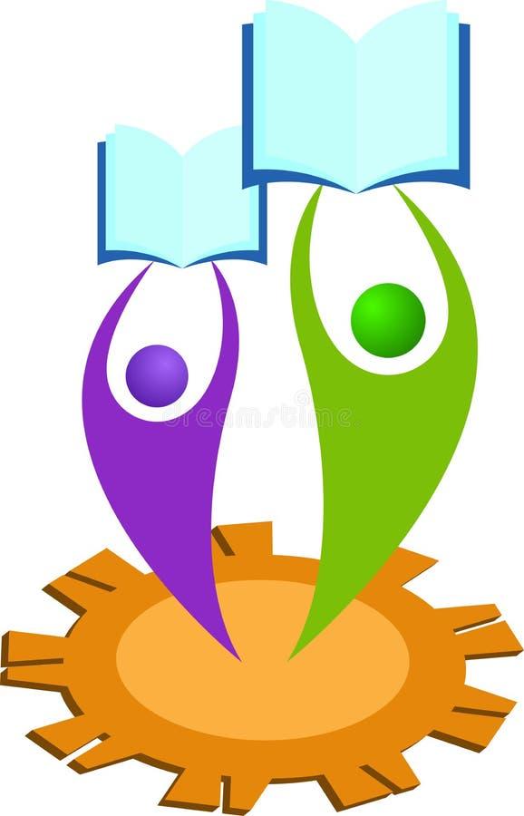 Utbildningslogo vektor illustrationer