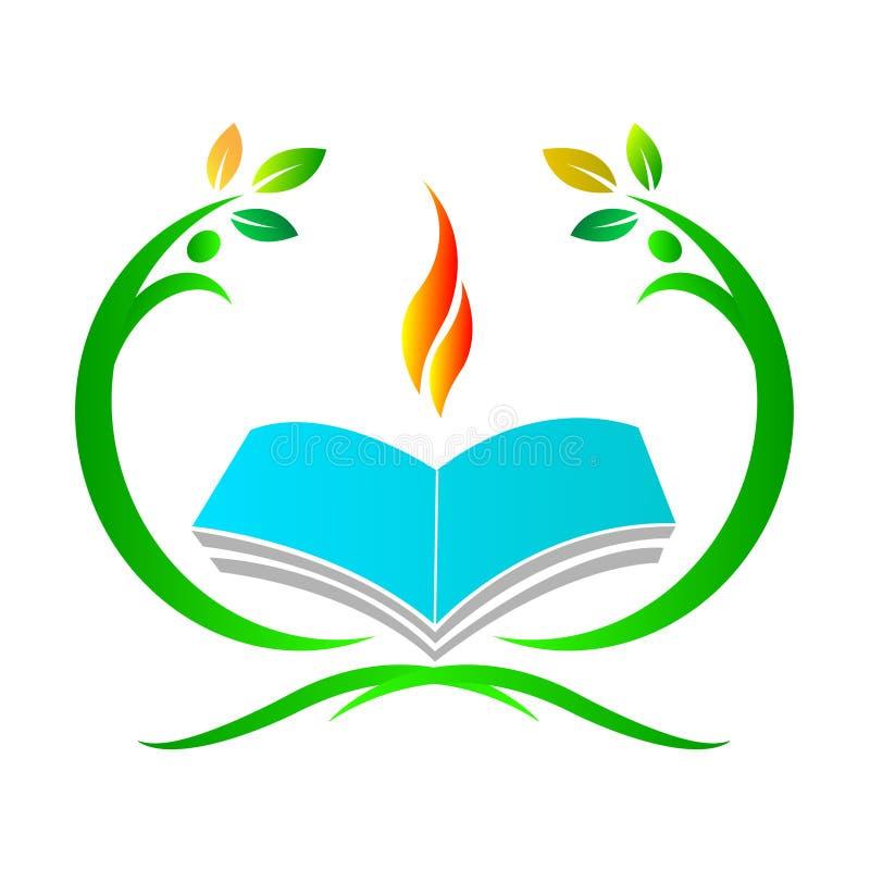 Utbildningslogo stock illustrationer