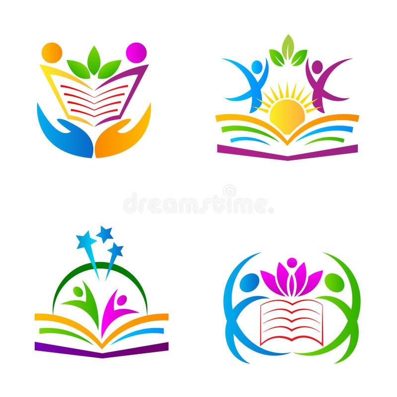 Utbildningslogoer royaltyfri illustrationer
