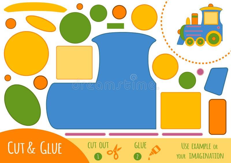 Utbildningspapperslek för barn, drev vektor illustrationer