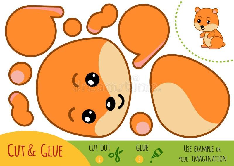 Utbildningspapperslek för barn, hamster vektor illustrationer