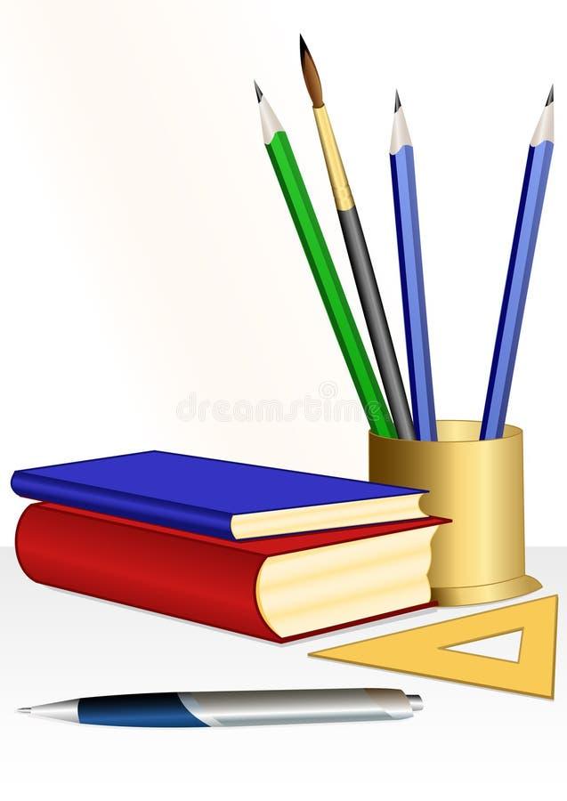 utbildningsset stock illustrationer