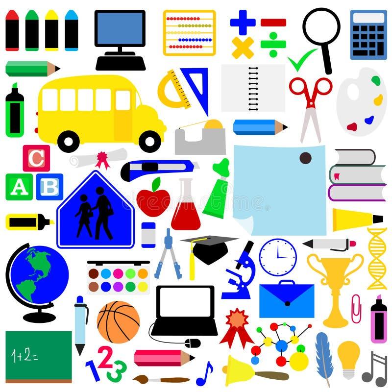 utbildningssymboler vektor illustrationer