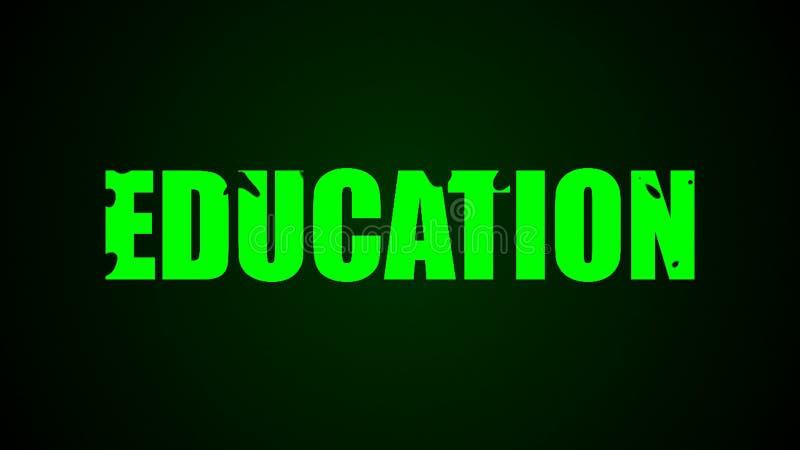 Utbildningstext abstrakt bakgrund Digital 3d tolkning arkivfoton