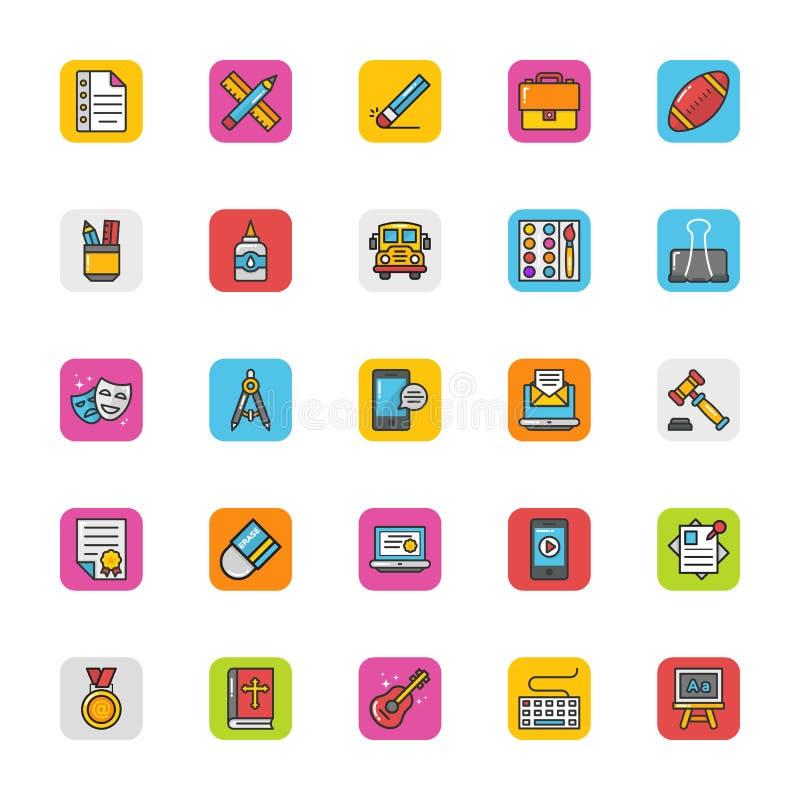 Utbildningsvektorsymboler 7 royaltyfri illustrationer