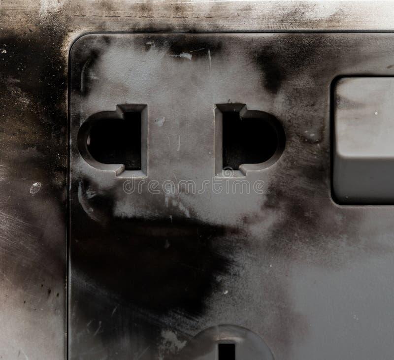 Utbränd elektrisk hålighet royaltyfria foton