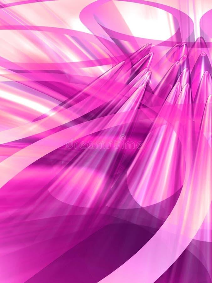 utbredd lampa - pink royaltyfri illustrationer