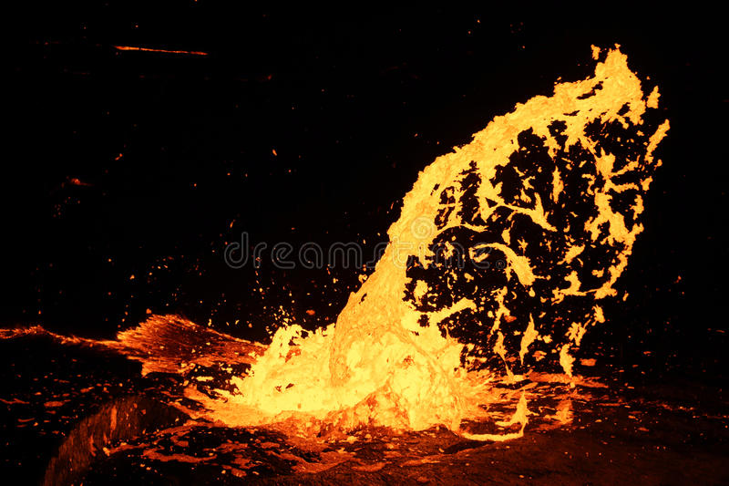 Utbrott av Volcano Erta Ale, Etiopien royaltyfri fotografi