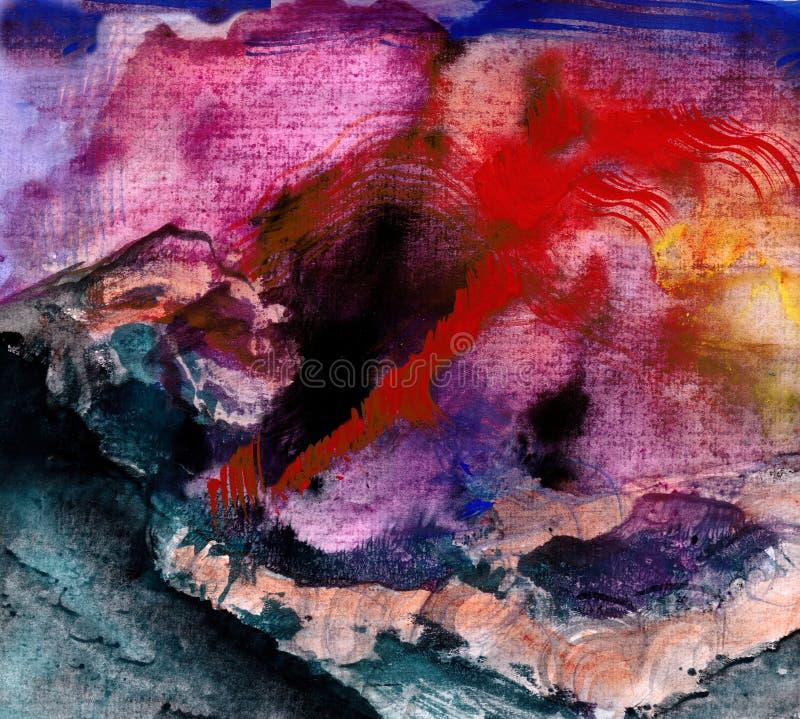 Utbrott av vulkan vektor illustrationer