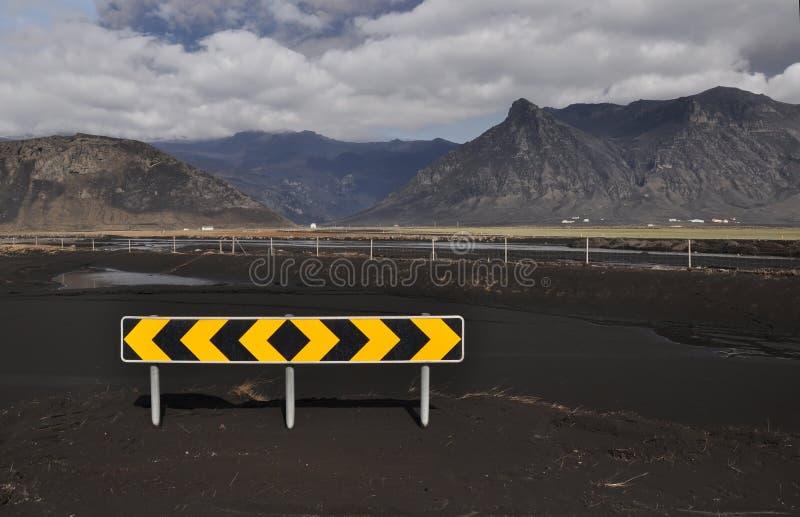 utbrotticeland vulkan arkivbild