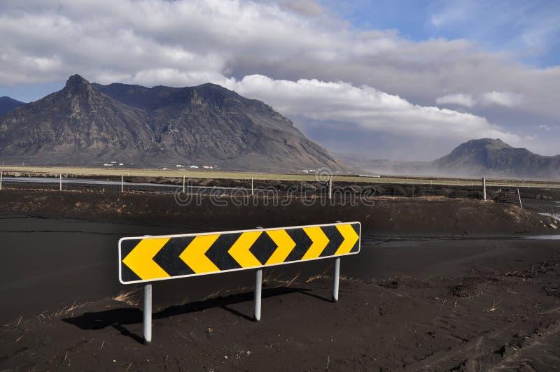 utbrotticeland vulkan royaltyfri fotografi