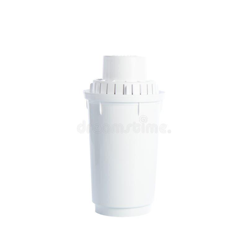 Utbytesvattenfilter som isoleras på vit bakgrund med urklippbanan Sunt livsstiltema royaltyfri foto