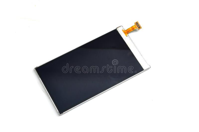 Utbytning av den mobila skärmen royaltyfri bild