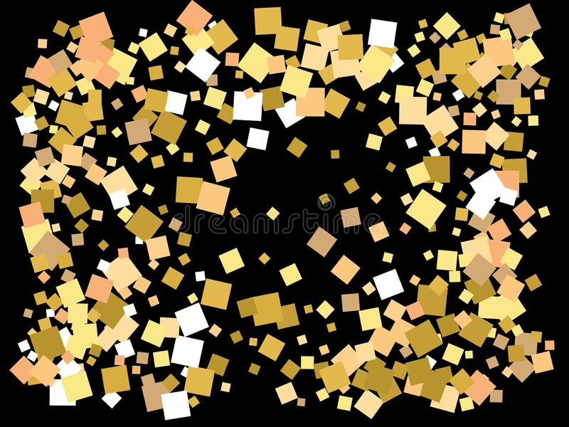 Utdrag av guldkvadrater för helgdagar royaltyfri illustrationer