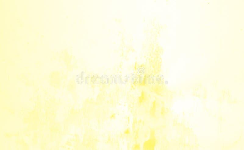 Utdrag av vattenfärgsbakgrund, handdragen på papper Gul färg vektor illustrationer